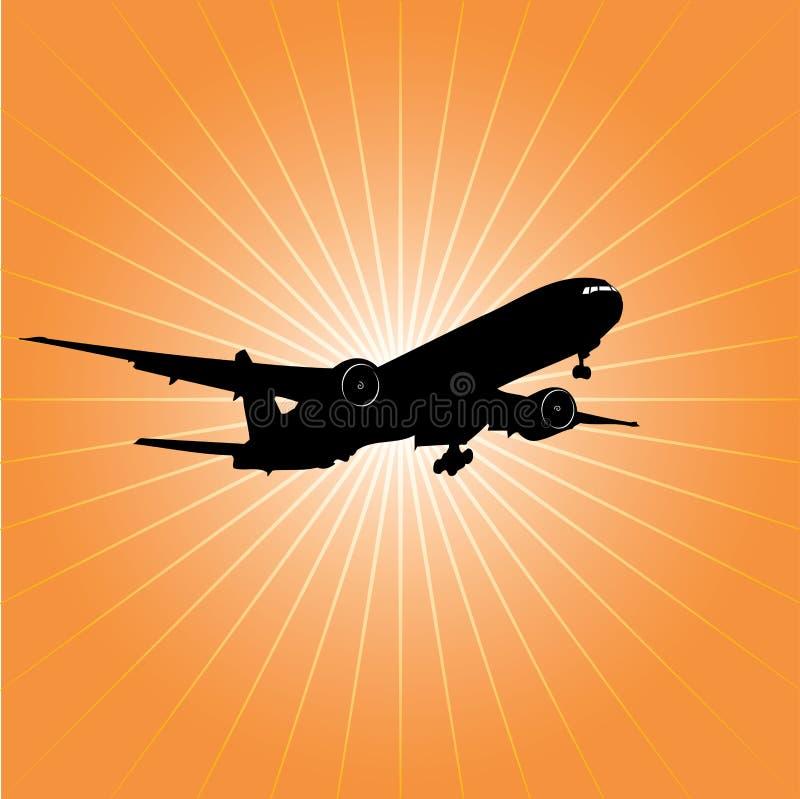 Caída de aeroplano ilustración del vector