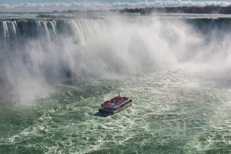 Caída de herradura, Niagara Falls, Ontario, Canadá fotos de archivo