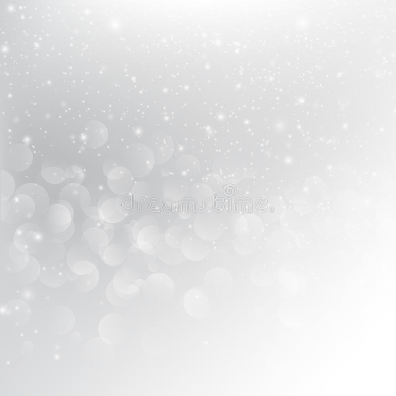 Caída de la nieve con illustratio gris del vector del fondo del extracto del bokeh ilustración del vector