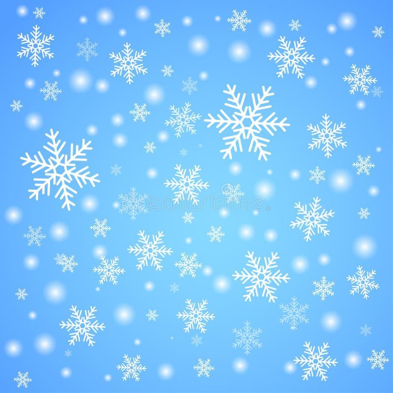 Caída de la nieve Fondo del invierno stock de ilustración