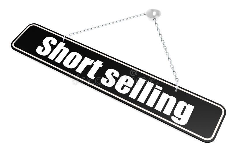 Caída de la palabra de la venta corta en la bandera stock de ilustración
