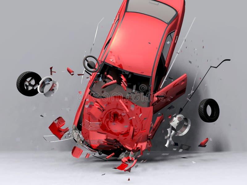 Caída del coche imágenes de archivo libres de regalías