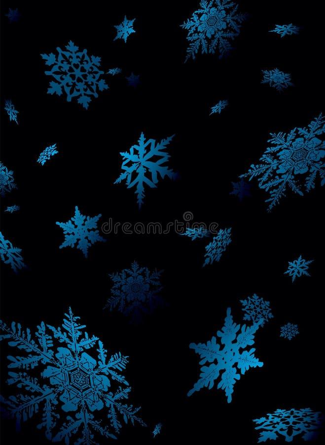 Caída del copo de nieve stock de ilustración