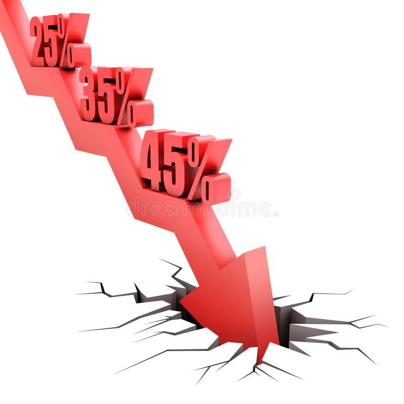 Caída del porcentaje stock de ilustración