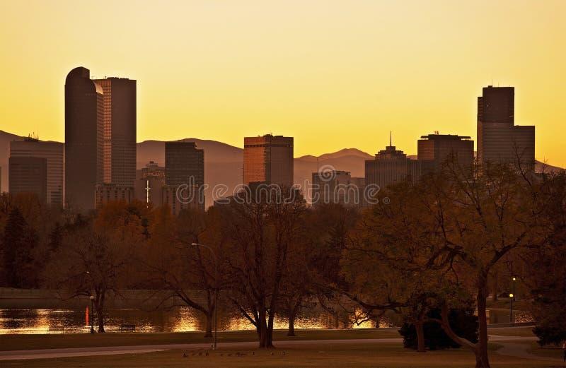 Caída Denver Sunset imagen de archivo