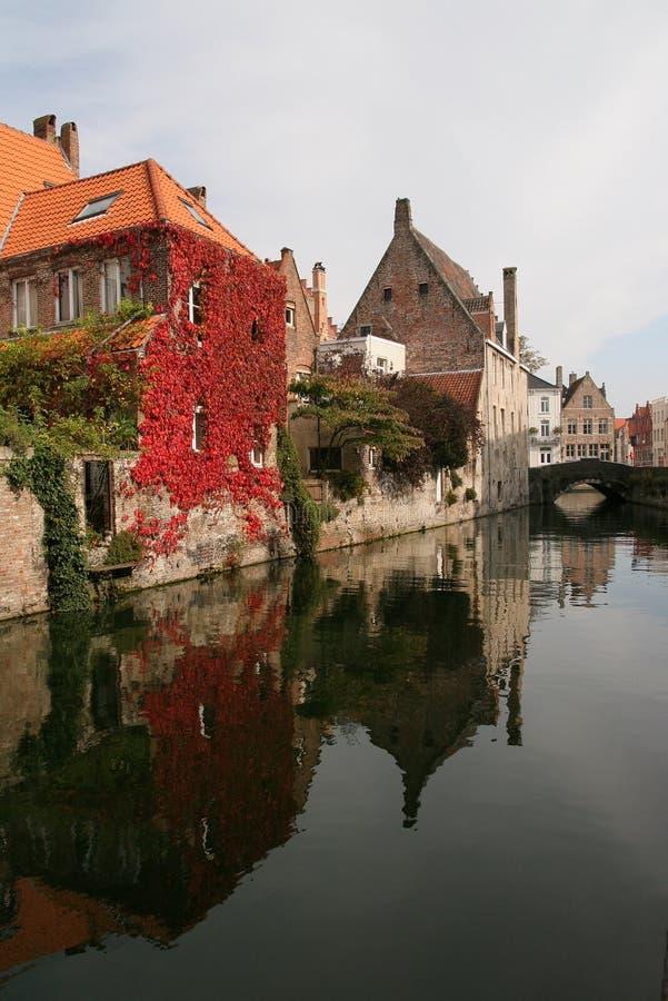 Caída en Brujas, Bélgica fotos de archivo libres de regalías