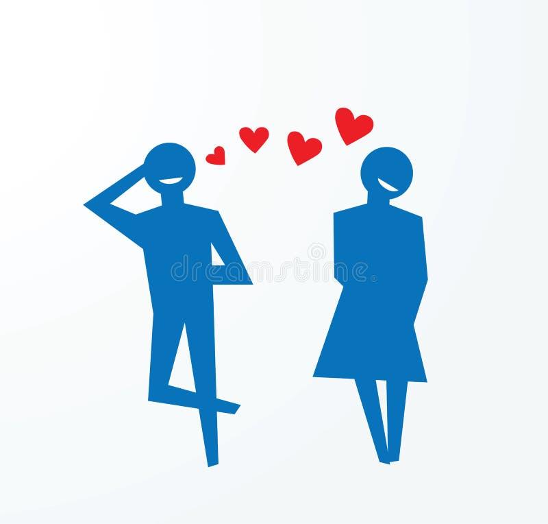 Caída en el amor, dulces del amor ilustración del vector
