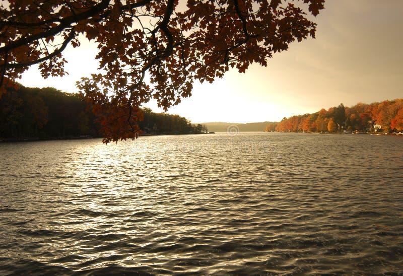 Caída en el lago imagenes de archivo