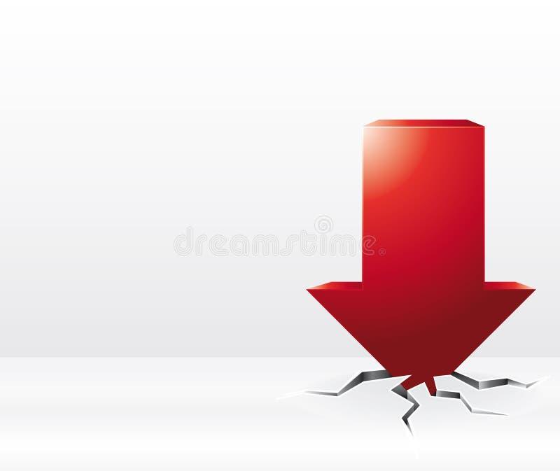caída roja de la flecha 3D libre illustration