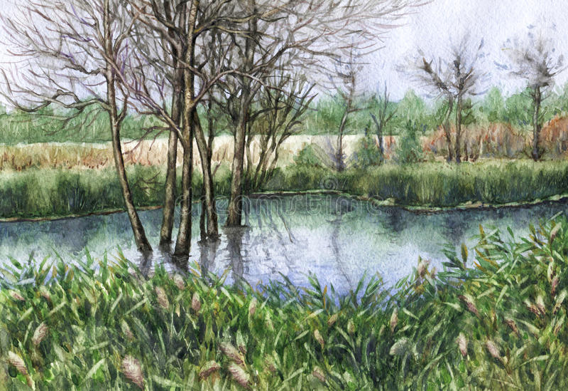 Caída temprana en el pantano libre illustration