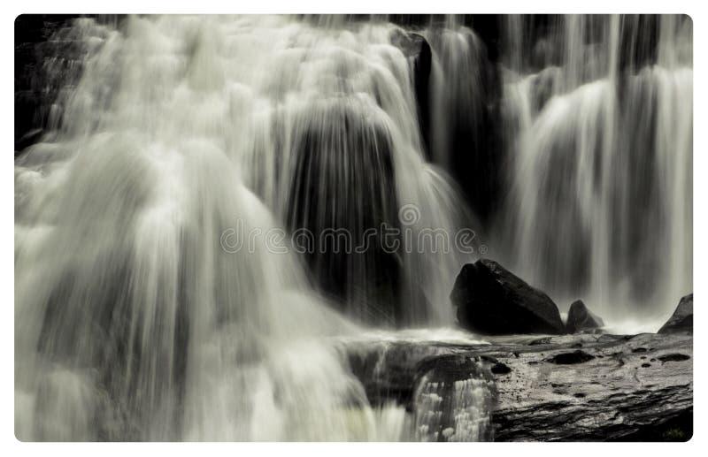 Caídas calvas del río fotografía de archivo