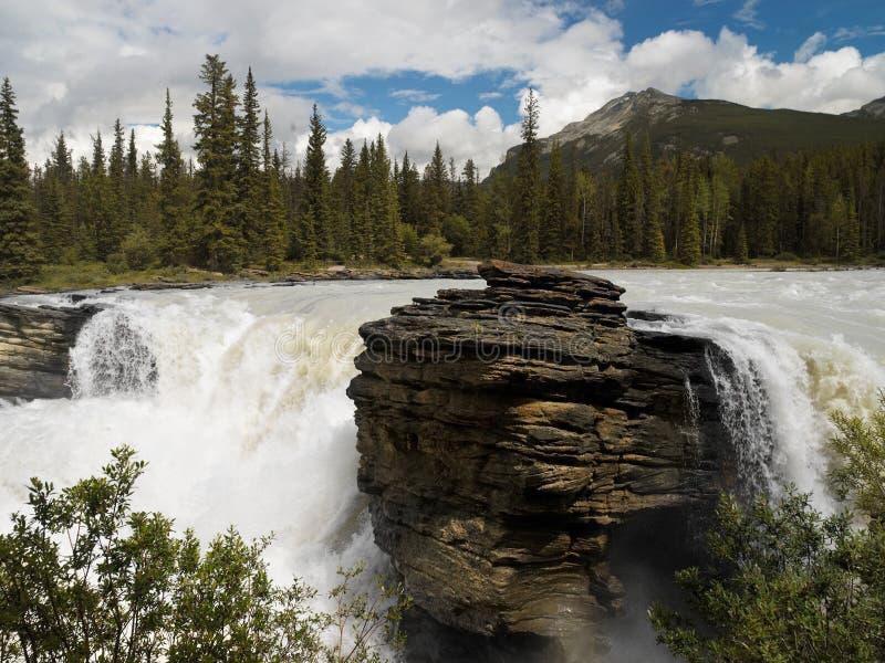 Caídas de Athabasca - Canadá imagen de archivo libre de regalías