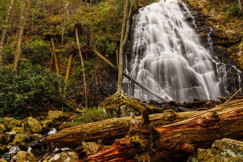 Caídas de Crabtree, una cascada azul de Ridge Parkway foto de archivo libre de regalías