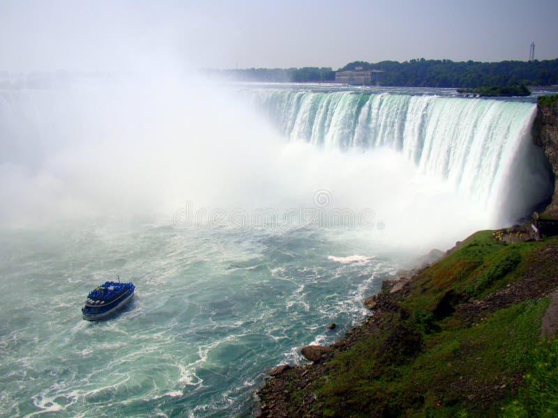 Caídas de herradura, cara canadiense de Niagara Falls fotos de archivo