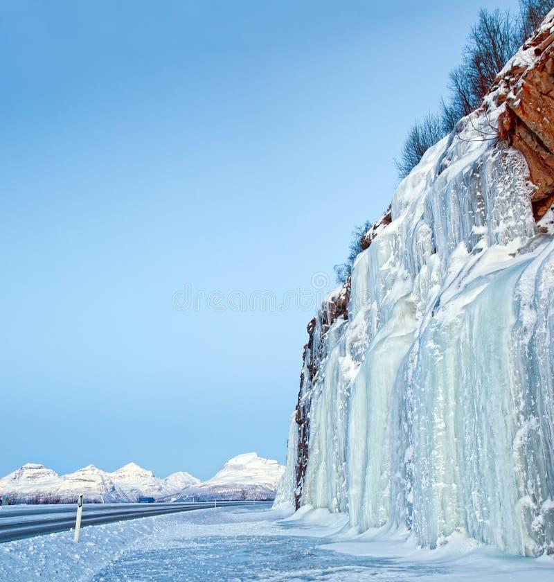 Caídas de hielo. foto de archivo