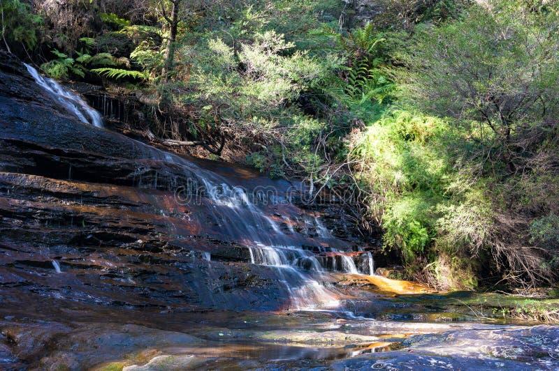 Caídas de la roca que lloran, paisaje de la cascada imagen de archivo libre de regalías