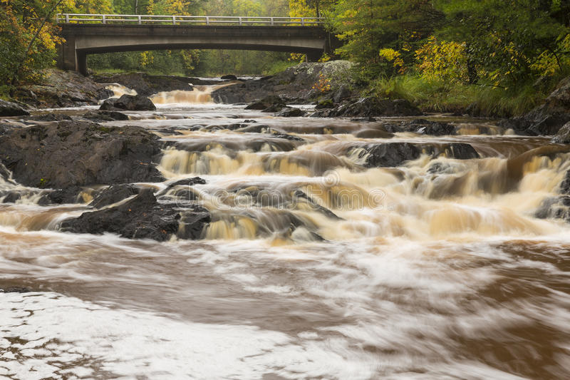 Caídas del río de Amnicon fotos de archivo