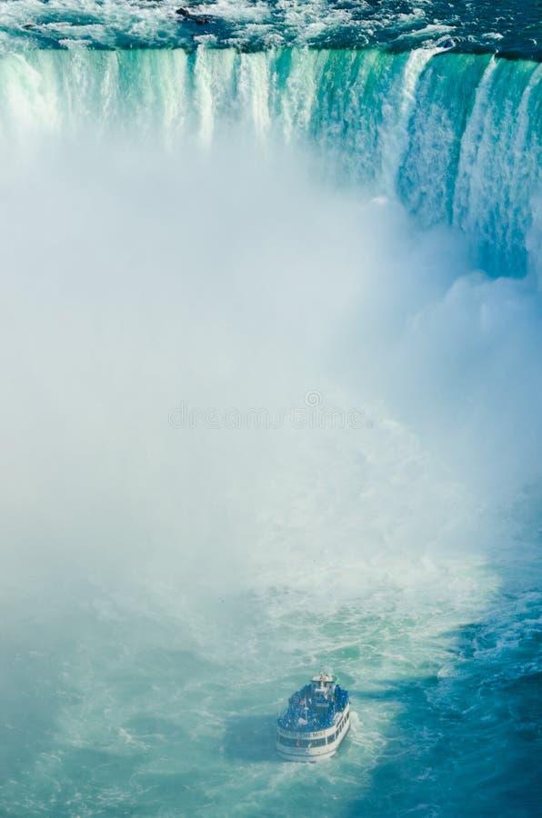 Caídas del zapato del caballo de Niagara Falls Ontario Canadá fotografía de archivo libre de regalías