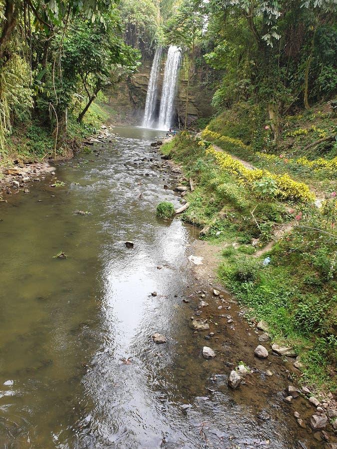 7 ca?das en Sarangani, Mindanao, Filipinas foto de archivo libre de regalías