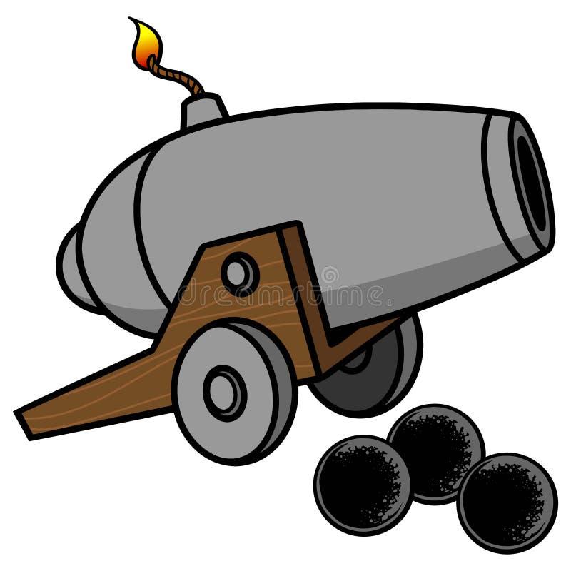 cañón ilustración del vector