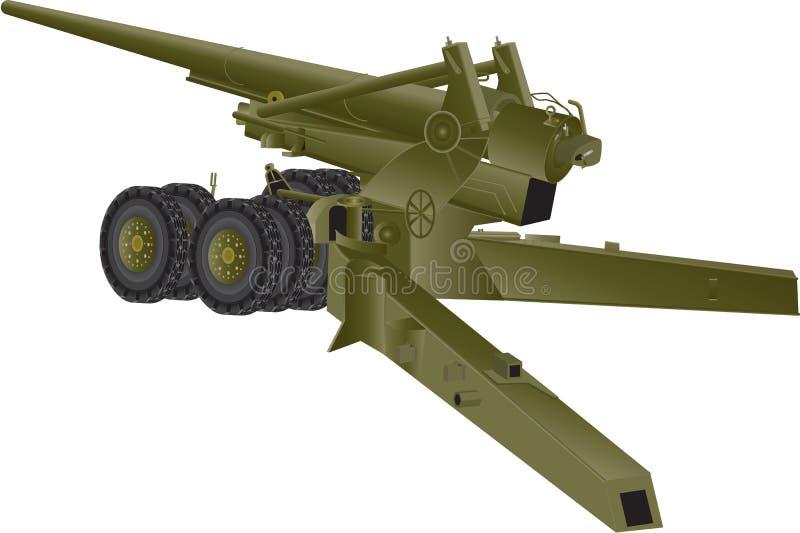 Cañón anti de los aviones ilustración del vector