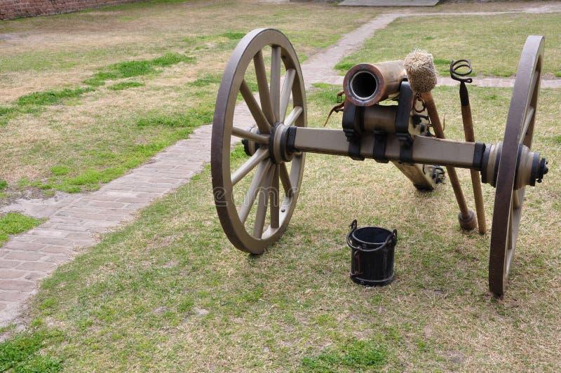 Cañón de la guerra civil fotos de archivo libres de regalías