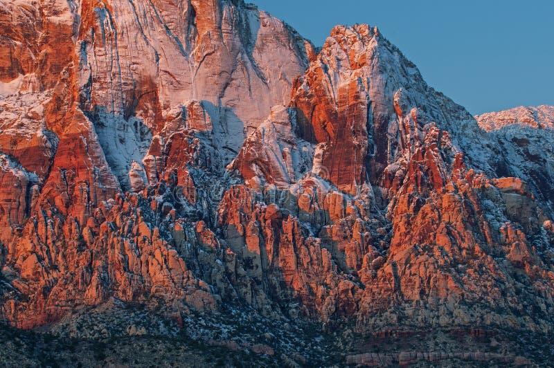 Cañón de rock rojo de invierno foto de archivo libre de regalías