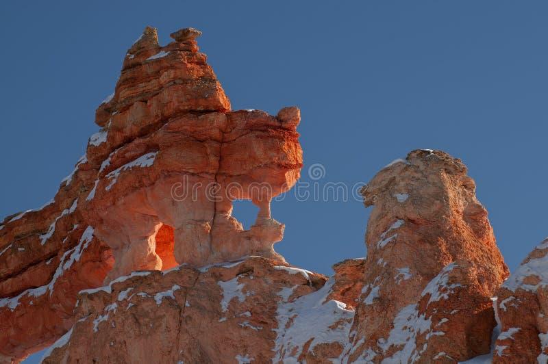 Cañón de rock rojo de invierno fotografía de archivo