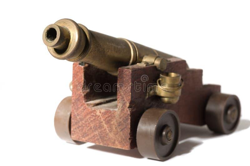 Cañón del juguete foto de archivo