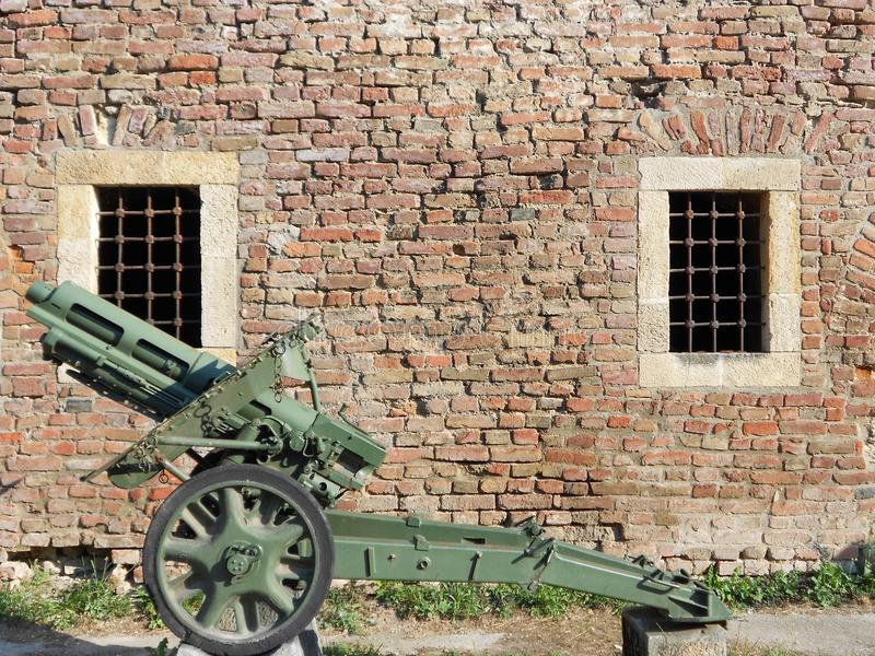 Cañón histórico de la infantería imagen de archivo