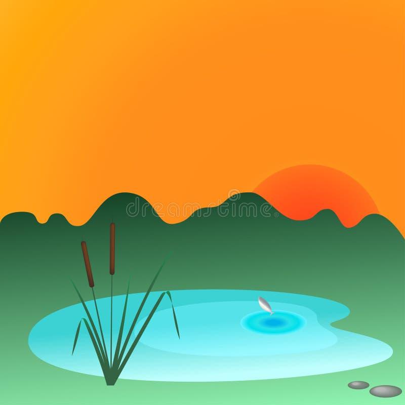 Cañas y lago foto de archivo libre de regalías