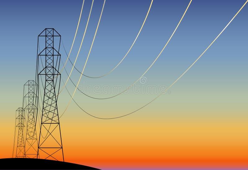 Cañería eléctrica ilustración del vector