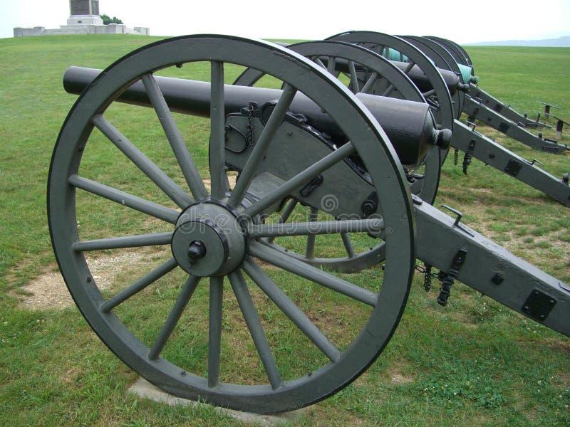 Cañones-Antietam De La Guerra Civil Imagen de archivo libre de regalías