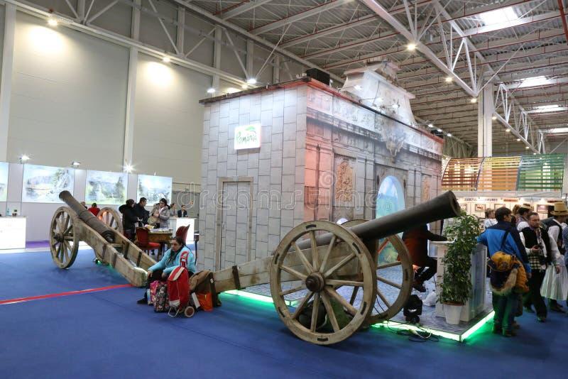 Cañones en la feria nacional del turismo de Rumania, 2018 imagen de archivo