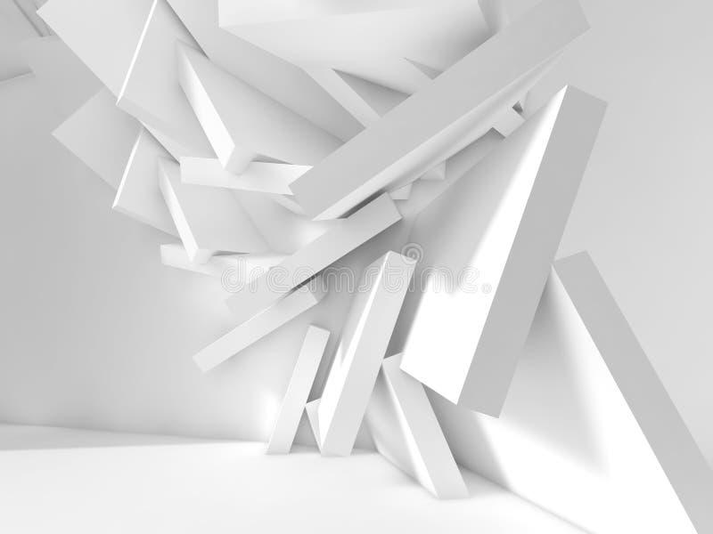 Caótico bloquea la instalación en el sitio vacío 3d libre illustration
