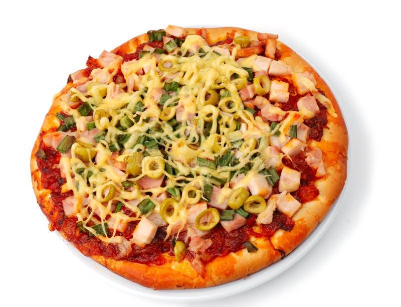 cała baleron gotująca pizza obraz stock