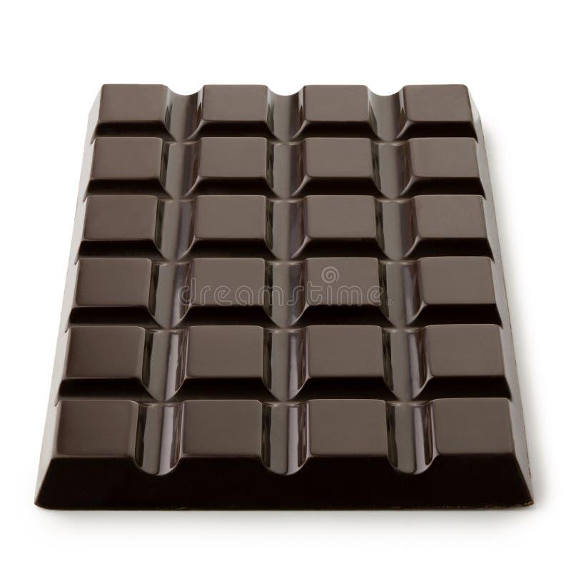 Cała cegiełka odizolowywająca na bielu ciemna czekolada Frontowy widok ilustracja wektor