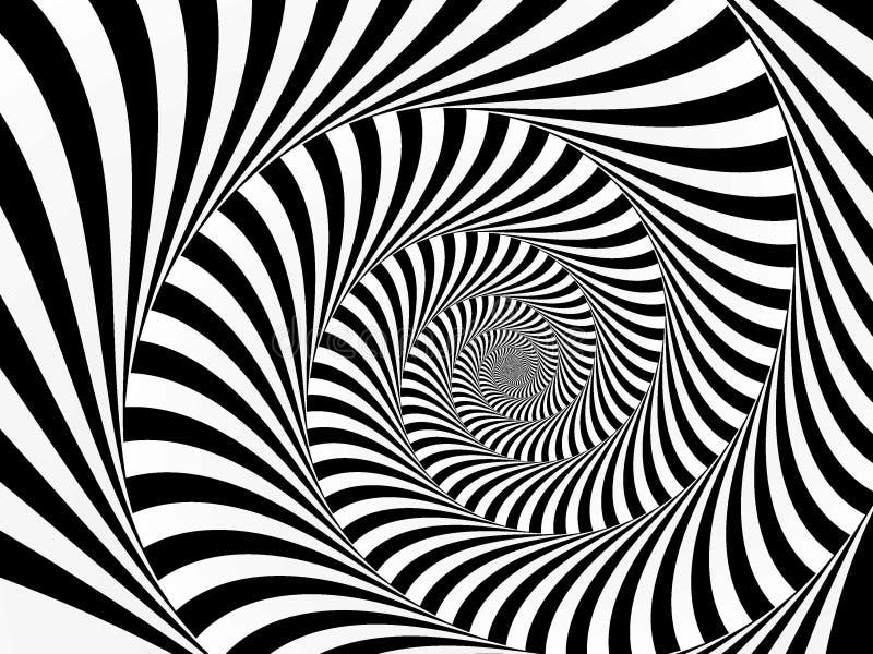 całkowicie spirali rana royalty ilustracja