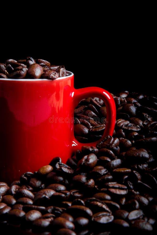 Całość piec kawowych fasoli obrazy stock
