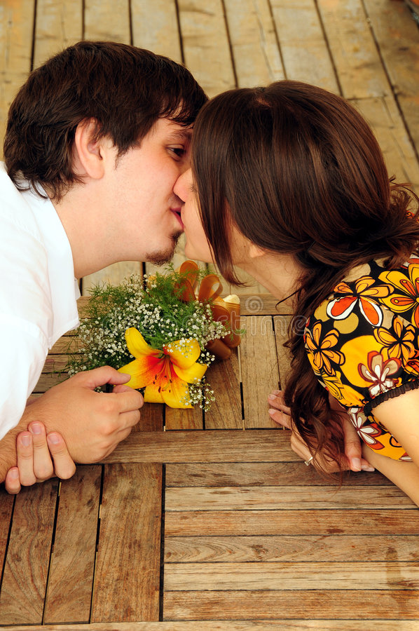 całowanie pary obrazy stock
