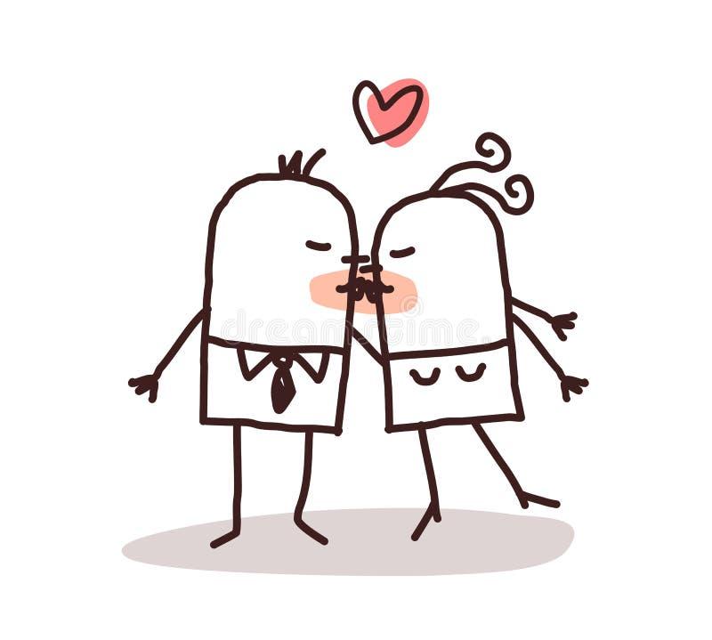 całowanie pary ilustracja wektor