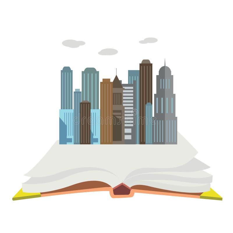 Cały świat w książkowej mieszkanie stylu pojęcia nowożytnej sieci wektorowym ilustracyjnym kolażu ilustracji