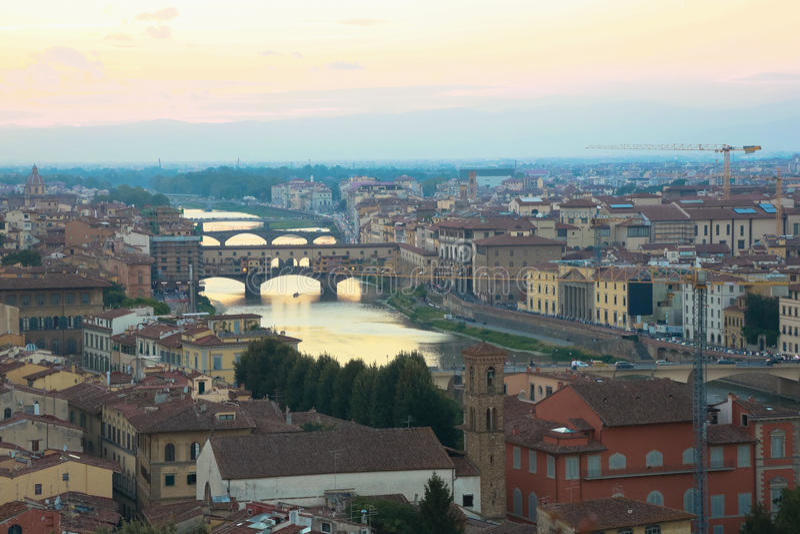 Cały widok Firenze fotografia stock