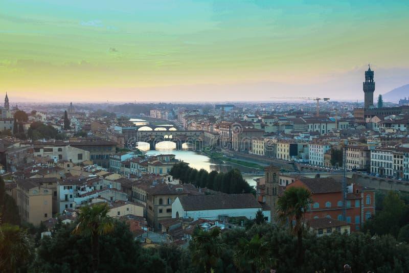 Cały widok Firenze zdjęcia stock