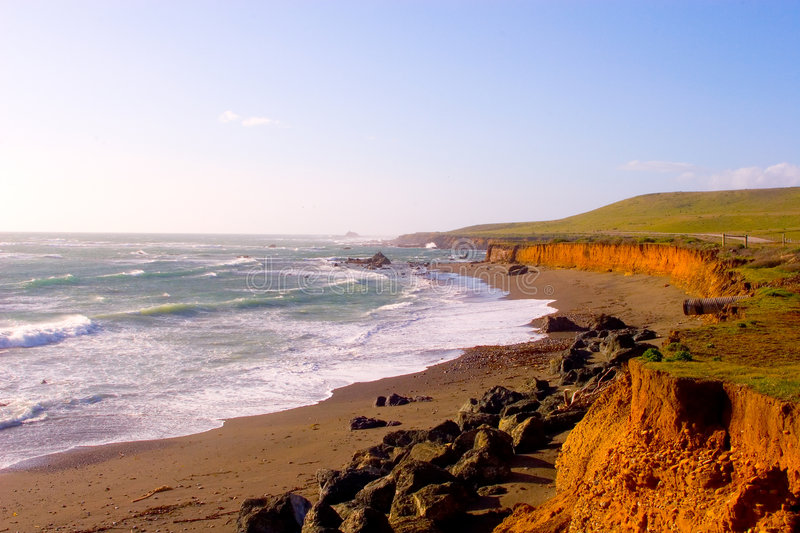 CA-1 Highway Scenic Coast royalty free stock images