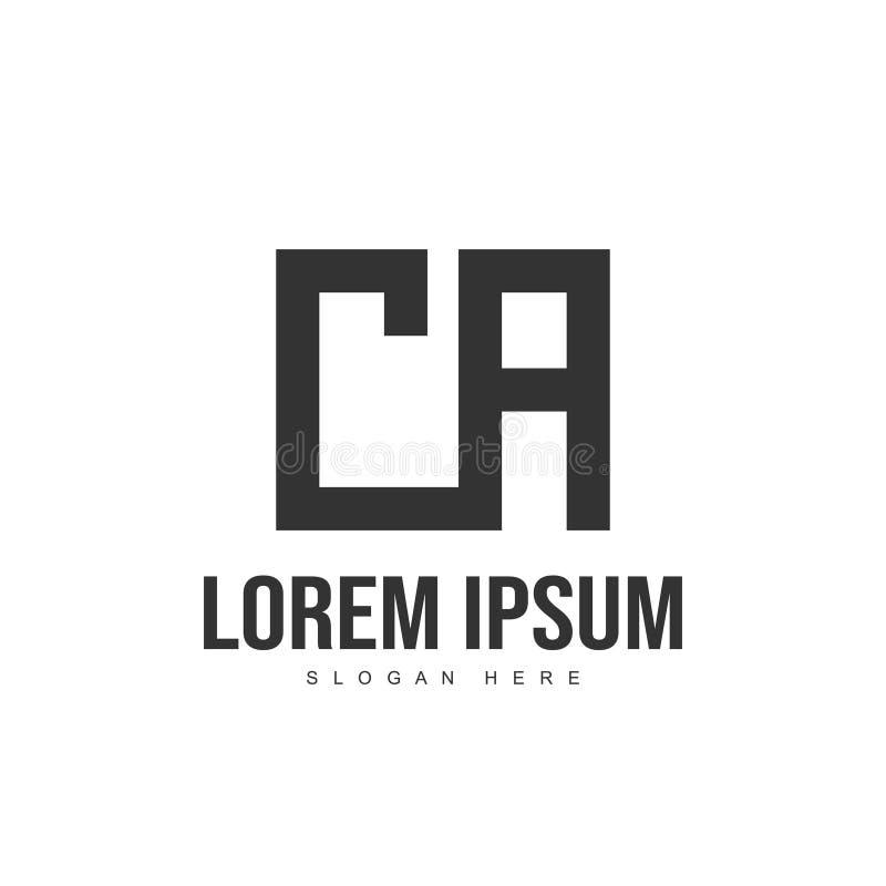 CA bokstav Logo Design Logomall för initial bokstav arkivfoto