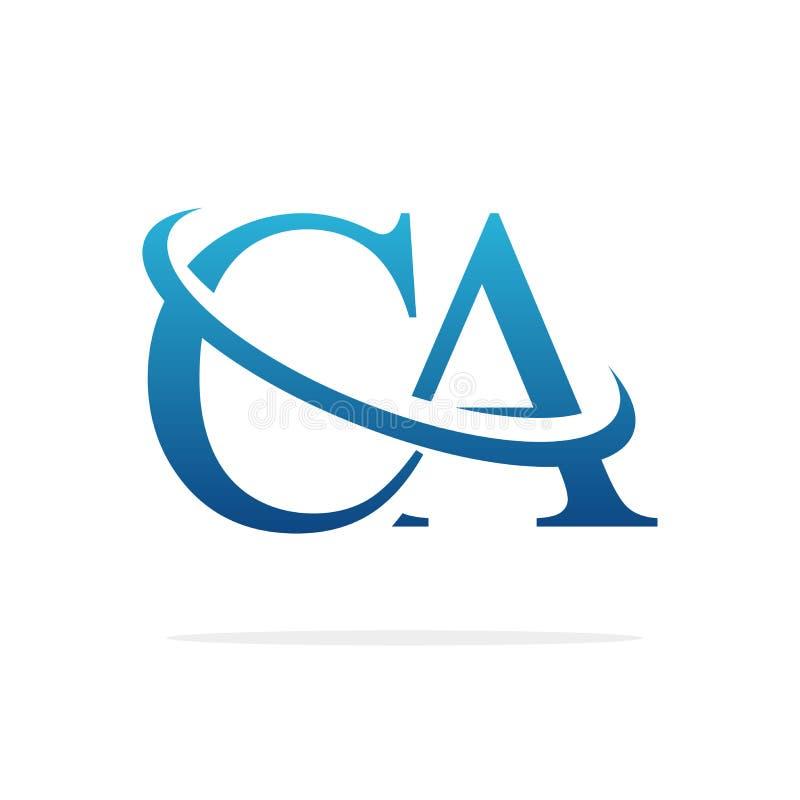 CA Creative logo design vector art royalty free stock image