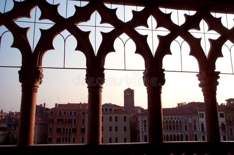 Ca D'Oro - palazzo dorato fotografia stock