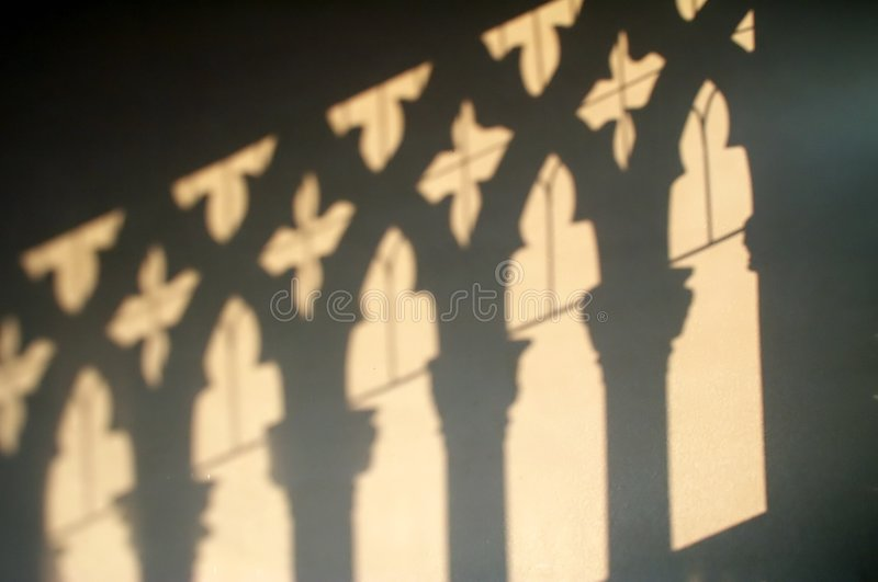 Ca D'Oro - shadows on the wall royalty free stock images