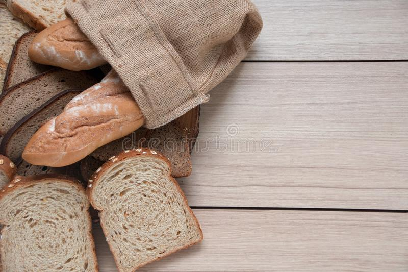 Ca?ej banatki chleb no zrobi sad?o Zdrowa dieta mo?e je?? ?niadanie lub je?? zdjęcie stock